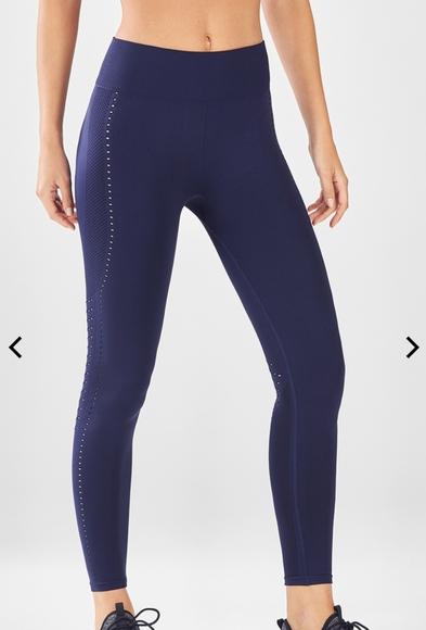 Fabletics Pants - Fabletics royal blue seamless 7/8 leggings